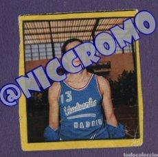 Coleccionismo deportivo: CROMO BERGÍA ESTUDIANTES COLECCIÓN SERIE DEPORTES BALONCESTO 1968 1969 SIN PEGAR FOTO NICCROMO. Lote 191909560