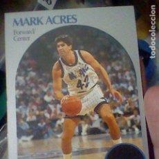 Coleccionismo deportivo: MARK ACRES ORLANDO Nº 213 NBA 1990 HOOPS CROMO DETERIORADO LEER 9 X 6,5 CMS. Lote 191927686