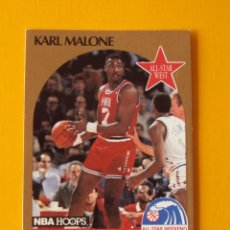 Coleccionismo deportivo: KARL MALONE 21 NBA HOOPS 90 1990 1990-91 90-91 91 ALL STAR WEST TRADING CARD. Lote 192024936