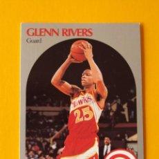 Coleccionismo deportivo: GLENN RIVERS 32 NBA HOOPS 90 1990 1990-91 90-91 91 ATLANTA HAWKS TRADING CARD. Lote 192024966