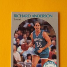 Coleccionismo deportivo: RICHARD ANDERSON 49 NBA HOOPS 90 1990 1990-91 90-91 91 CHARLOTTE HORNETS TRADING CARD. Lote 192025043