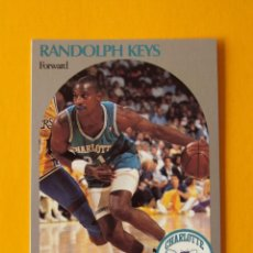 Coleccionismo deportivo: RANDOLPH KEYS 56 NBA HOOPS 90 1990 1990-91 90-91 91 CHARLOTTE HORNETS TRADING CARD. Lote 192025067