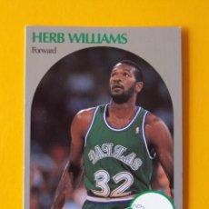 Coleccionismo deportivo: HERB WILLIAMS 90 NBA HOOPS 90 1990 1990-91 90-91 91 DALLAS MAVERICKS TRADING CARD. Lote 192033833