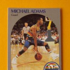 Coleccionismo deportivo: MICHAEL ADAMS 91 NBA HOOPS 90 1990 1990-91 90-91 91 DENVER NUGGETS TRADING CARD. Lote 192034117