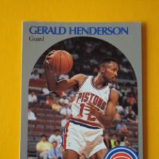 Coleccionismo deportivo: GERALD HENDERSON 106 NBA HOOPS 90 1990 1990-91 90-91 91 DETROIT PISTONS TRADING CARD. Lote 192034693