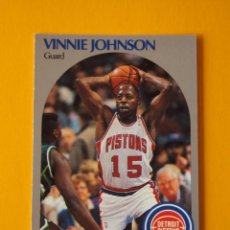 Coleccionismo deportivo: VINNIE JOHNSON 107 NBA HOOPS 90 1990 1990-91 90-91 91 DETROIT PISTONS TRADING CARD. Lote 192034875
