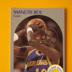 Coleccionismo deportivo: MANUTE BOL 112 NBA HOOPS 90 1990 1990-91 90-91 91 GOLDEN STATE WARRIORS TRADING CARD. Lote 192035323
