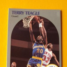 Coleccionismo deportivo: TERRY TEAGLE 120 NBA HOOPS 90 1990 1990-91 90-91 91 GOLDEN STATE WARRIORS TRADING CARD. Lote 192040238