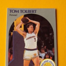 Coleccionismo deportivo: TOM TOLBERT 121 NBA HOOPS 90 1990 1990-91 90-91 91 GOLDEN STATE WARRIORS TRADING CARD. Lote 192040405