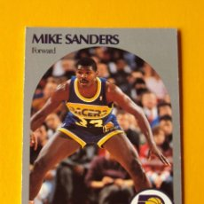 Coleccionismo deportivo: MIKE SANDERS 137 NBA HOOPS 90 1990 1990-91 90-91 91 INDIANA PACERS TRADING CARD. Lote 192041913