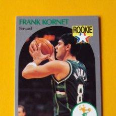 Coleccionismo deportivo: FRANK KORNET 176 NBA HOOPS 90 1990 1990-91 90-91 91 MILWAUKEE BUCKS TRADING CARD. Lote 192043537