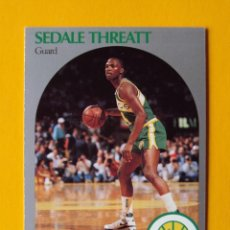 Coleccionismo deportivo: SEDALE THREATT 284 NBA HOOPS 90 1990 1990-91 90-91 91 SEATTLE SUPERSONICS TRADING CARD. Lote 192145122