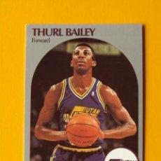 Coleccionismo deportivo: THURL BAILEY 285 NBA HOOPS 90 1990 1990-91 90-91 91 UTAH JAZZ TRADING CARD. Lote 192145248