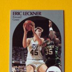 Coleccionismo deportivo: ERIC LECKNER 291 NBA HOOPS 90 1990 1990-91 90-91 91 UTAH JAZZ TRADING CARD. Lote 192145495