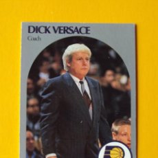 Coleccionismo deportivo: DICK VERSACE 315 NBA HOOPS 90 1990 1990-91 90-91 91 COACH INDIANA PACERS TRADING CARD. Lote 192145926