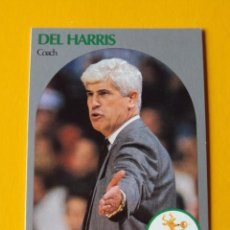 Coleccionismo deportivo: DEL HARRIS 319 NBA HOOPS 90 1990 1990-91 90-91 91 COACH MILWAUKEE BUCKS TRADING CARD. Lote 192189938