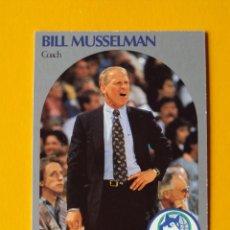 Coleccionismo deportivo: BILL MUSSELMAN 320 NBA HOOPS 90 1990 1990-91 90-91 91 COACH MINNESOTA TIMBERWOLVES TRADING CARD. Lote 192190215