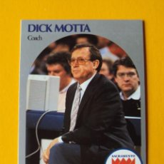 Coleccionismo deportivo: DICK MOTTA 327 NBA HOOPS 90 1990 1990-91 90-91 91 COACH SACRAMENTO KINGS TRADING CARD. Lote 192191995