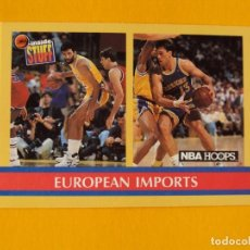 Coleccionismo deportivo: EUROPEAN IMPORTS 384 NBA HOOPS 90 1990 1990-91 90-91 91 TRADING CARD. Lote 192199942