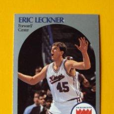 Coleccionismo deportivo: ERIC LECKNER 429 NBA HOOPS 90 1990 1990-91 90-91 91 SACRAMENTO KINGS TRADING CARD. Lote 192200478