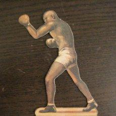 Collezionismo sportivo: JACK JOHNSON VS JEFFRIES-Nº 1 & 2-CHOCOLATES JAIME BOIX-CROMO TROQUELADO BOXEO-VER FOTOS-(V-19.005). Lote 194317901