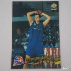 Coleccionismo deportivo: CROMO CARD DE BALONCESTO FERRAN MARTINEZ DEL F.C. BARCELONA Nº 10 LIGA ACB 96 DE MUNDICROMO SPORT. Lote 269968358