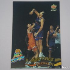 Coleccionismo deportivo: CROMO CARD DE BALONCESTO FERRAN MARTINEZ JUGADAS ALL STARS Nº 216 LIGA ACB 96 MUNDICROMO SPORT. Lote 194575813