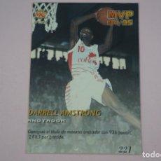Coleccionismo deportivo: CROMO CARD BALONCESTO DARREL AMSTRONG ALBERTO HERREROS MVP 94/95 Nº 221 LIGA ACB 96 MUNDICROMO SPORT. Lote 194576207