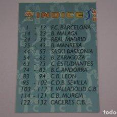 Coleccionismo deportivo: CROMO CARD DE BALONCESTO INDICE ACB 96 Nº 225 LIGA ACB 96 DE MUNDICROMO SPORT. Lote 194576530