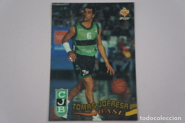 CROMO CARD DE BALONCESTO TOMAS JOFRESA DEL JOVENTUT CJB Nº 134 LIGA ACB 96 MUNDICROMO SPORT (Coleccionismo Deportivo - Cromos otros Deportes)