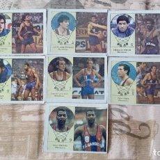 Coleccionismo deportivo: LOTE DE 7 CROMOS DE BALONCESTO DEL BARCELONA SIN PEGAR. Lote 195171477
