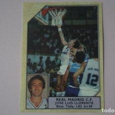 Coleccionismo deportivo: CROMO DE BALONCESTO JOSE LUIS LLORENTE DEL REAL MADRID C.F. Nº 113 LIGA ACB 89 DE J.MERCHANTE. Lote 195244597