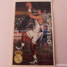 Coleccionismo deportivo: CROMO DE BALONCESTO ORENGA DEL REAL MADRID C.F. Nº 75 LIGA ACB 96-97 DE MUNDICROMO SPORT. Lote 195244836