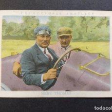 Coleccionismo deportivo: RENE THOMAS-AUTOMOVILISMO-Nº 12-CROMO ANTIGUO-PUBLICIDAD CHOCOLATE AMATLLER-VER FOTOS-(V-19.199). Lote 195313603