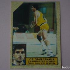 Coleccionismo deportivo: CROMO DE BALONCESTO RAMON FERNANDEZ ROBERT DEL C.B. GRAN CANARIA Nº 88 LIGA ACB 89 DE J.MERCHANTE. Lote 210185433