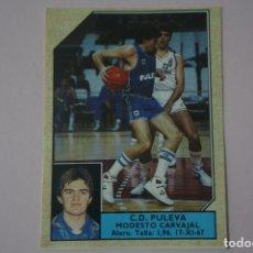 Coleccionismo deportivo: CROMO DE BALONCESTO MODESTO CARVAJAL DEL C.D. PULEVA Nº 136 LIGA ACB 89 DE J.MERCHANTE. Lote 210185421