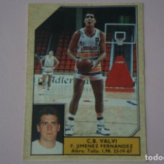 Coleccionismo deportivo: CROMO DE BALONCESTO JIMENEZ FERNANDEZ DEL C.B. VALVI Nº 164 LIGA ACB 89 DE J.MERCHANTE. Lote 210185380