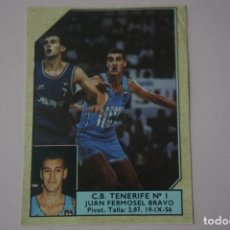 Coleccionismo deportivo: CROMO DE BALONCESTO JUAN FERMOSEL BRAVO DEL C.B. TENERIFE Nº 1 Nº 160 LIGA ACB 89 DE J.MERCHANTE. Lote 210185367