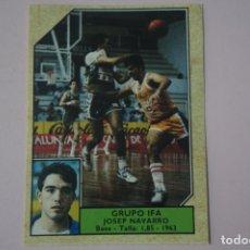 Coleccionismo deportivo: CROMO DE BALONCESTO JOSEP NAVARRO DEL GRUPO IFA Nº 93 LIGA ACB 89 DE J.MERCHANTE. Lote 210185361