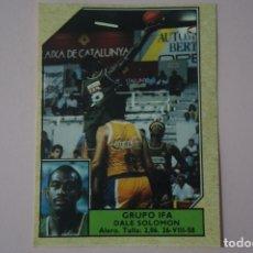 Coleccionismo deportivo: CROMO DE BALONCESTO DALE SOLOMON DEL GRUPO IFA Nº 94 LIGA ACB 89 DE J.MERCHANTE. Lote 210185348