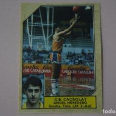 Coleccionismo deportivo: CROMO DE BALONCESTO HEREDERO DEL C.B. CACAOLAT Nº 26 LIGA ACB 89 DE J.MERCHANTE. Lote 210185335