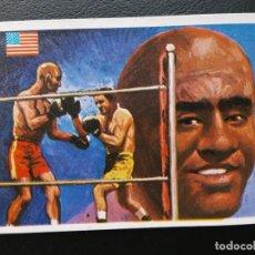 Coleccionismo deportivo: ASES MUNDIALES DEL DEPORTE, BOXEO, JACK JOHNSON N⁰ 108 PEQUEÑO. Lote 198309163