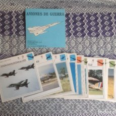 Coleccionismo deportivo: AVIONES DE GUERRA - 45 FICHAS - . Lote 198788141