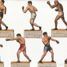 Coleccionismo deportivo: 16 CROMOS DE BOXEO TROQUELADOS. CHOCOLATES JAIME BOIX.. Lote 198960392