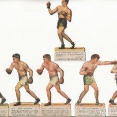 Coleccionismo deportivo: 6 CROMOS DE BOXEO TROQUELADOS. CHOCOLATES JAIME BOIX. . Lote 198964582