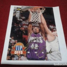 Coleccionismo deportivo: CROMO FIRMADO UPPER DECK COLLECTORS CHOICE 1994 NBA Nº 180 VIN BAKER (MILWAUKEE BUCKS) . Lote 199202026