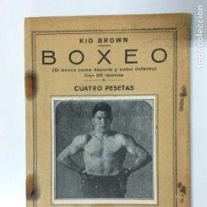 Coleccionismo deportivo: ENVÍO 6€. TRATADO DE BOXEO DE KID BROWN, MUY ANTIGUO CON ALGUNAS PÁGINAS SIN CORTAR. MIDE 19X13CM. Lote 220052682