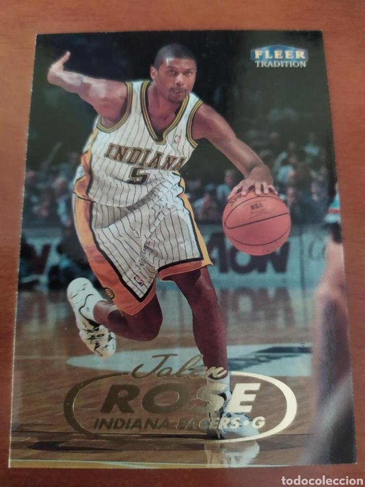 Jalen Rose 76 NBA Fleer Tradition 1998-99 Indiana Pacers segunda mano