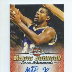 Coleccionismo deportivo: NBA LAKERS LEGENDARIOS AÑOS 80 : AUTOGRAFO ORIGINAL MAGIC JOHNSON (LEAF, 2017). Lote 204202401