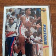 Collezionismo sportivo: DENNIS RODMAN 185 NBA UPPER DECK 1991-92 DETROIT PISTONS. Lote 204380491